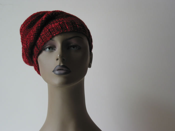 Knit Floppy Beanie by Cinnamon McCullum | AllegraNoir.com