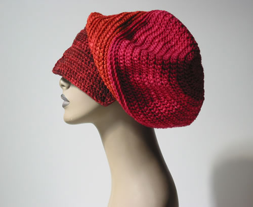 Crochet Dread Hat 001 by Cinnamon McCullum | AllegraNoir.com