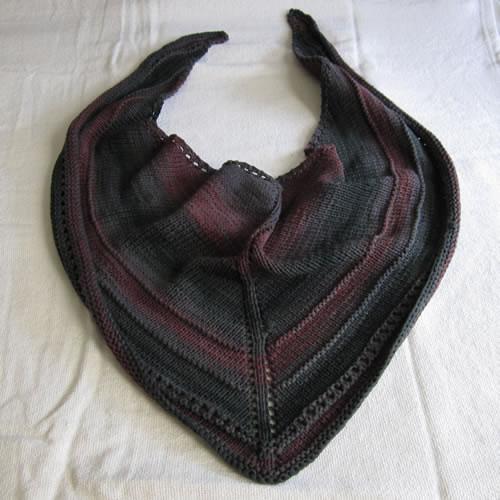 Knit Triangle Scarf 001 by Cinnamon McCullum | AllegraNoir.com
