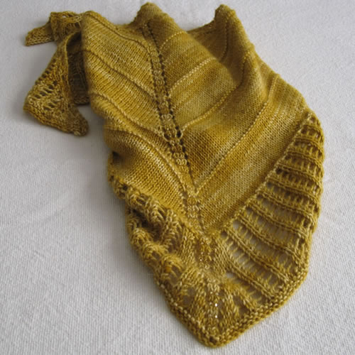 Knit Triangle Scarf 006 by Cinnamon McCullum | AllegraNoir.com