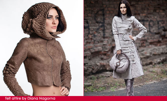 AllegraNoir.com | felt attire by Diana Nagorna