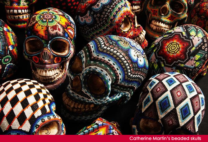 AllegraNoir.com | Beaded Skulls